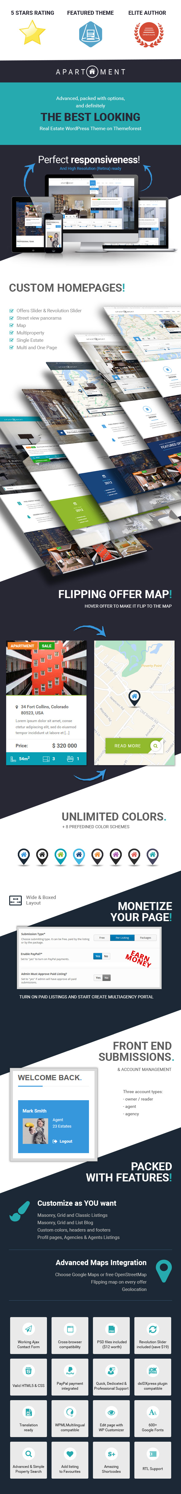Apartment WP - Real Estate Responsive WordPress Theme for Agents, Portals, Single Property Sites - 2